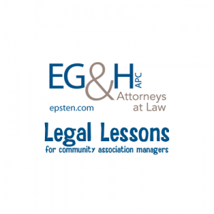 Legal Lessons: Managing Meetings & Your Membership @ Epsten Grinnell & Howell, APC Temecula Office